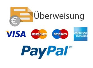 Payment methods on yourHalteverbot.de